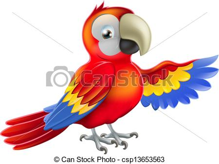 Scarlet Macaw clipart animated #3