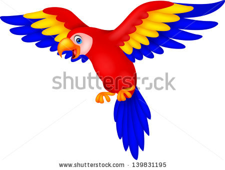 Scarlet Macaw clipart drawing #3