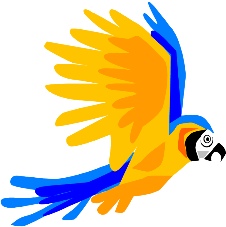 Blue-and-yellow Macaw clipart tropical bird #12