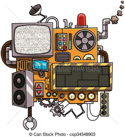 Machine clipart Copy csp34548903 of Machine with