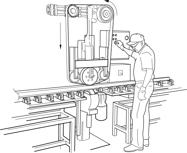 Machine clipart perpetual Vector this Machine Rail Clker