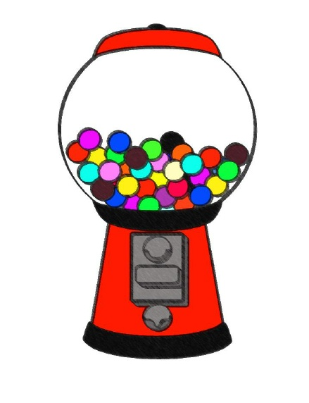 Gumball clipart one Pong Table Clipart Gumball Machine