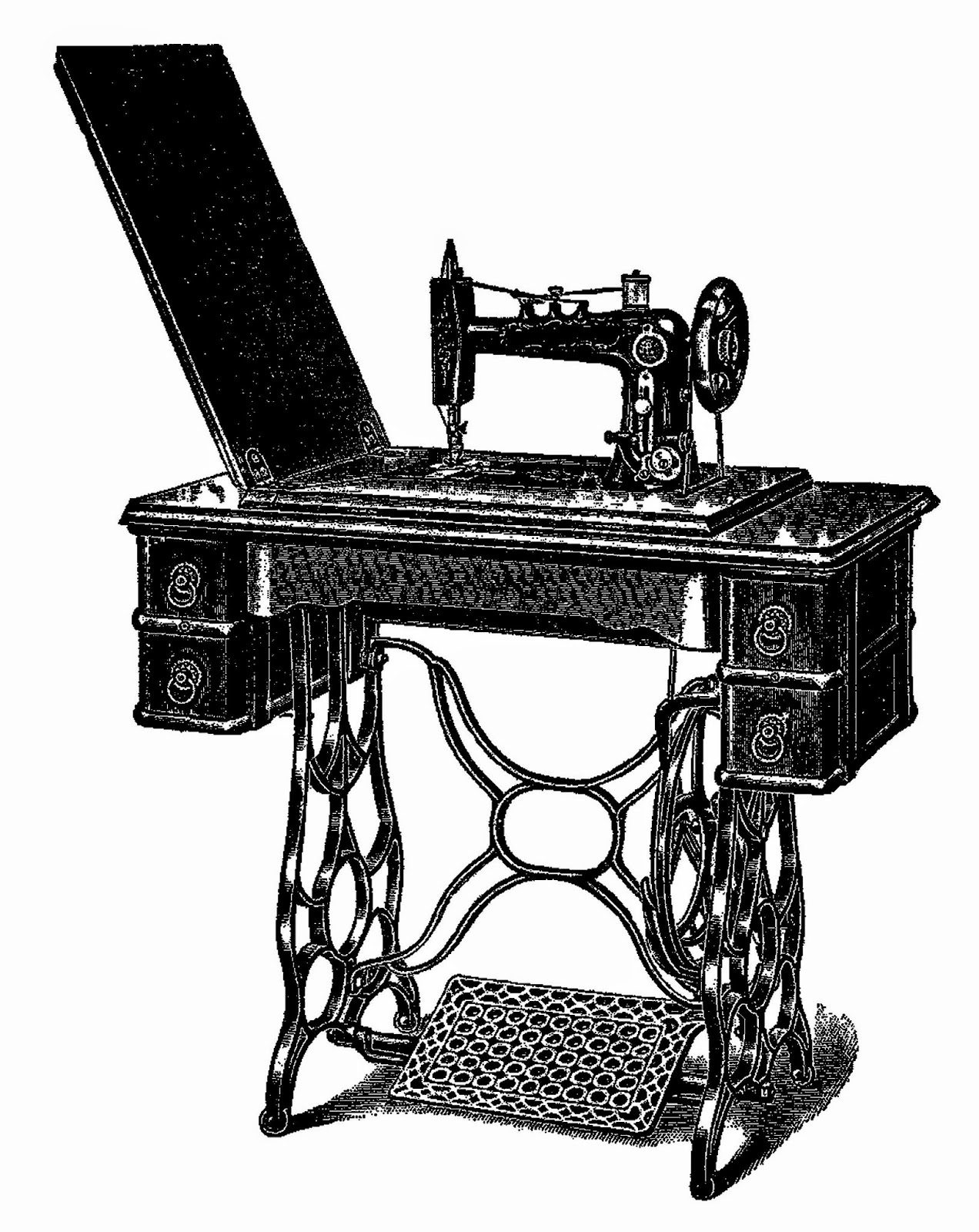 Sewing Machine clipart vintage #2