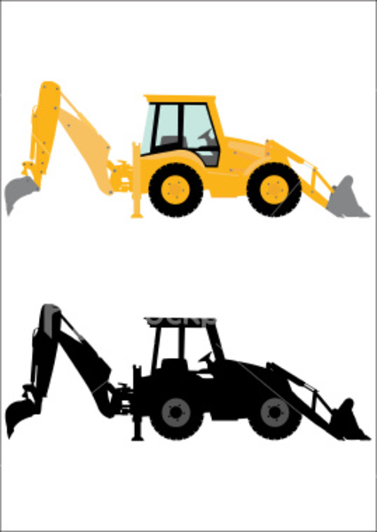 Yellow clipart backhoe Machine Free this as: Download