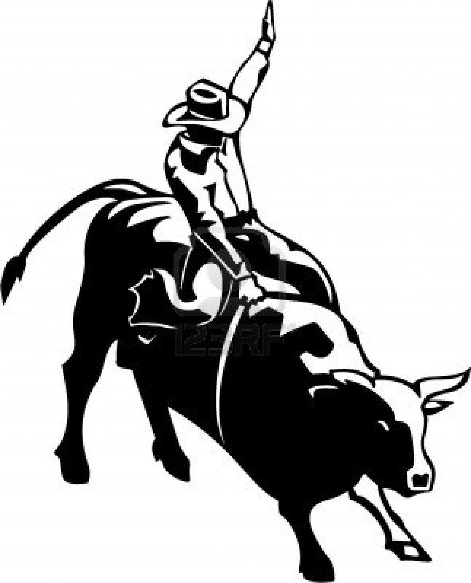 Machine clipart bull ride Pinterest Bull rider art Western