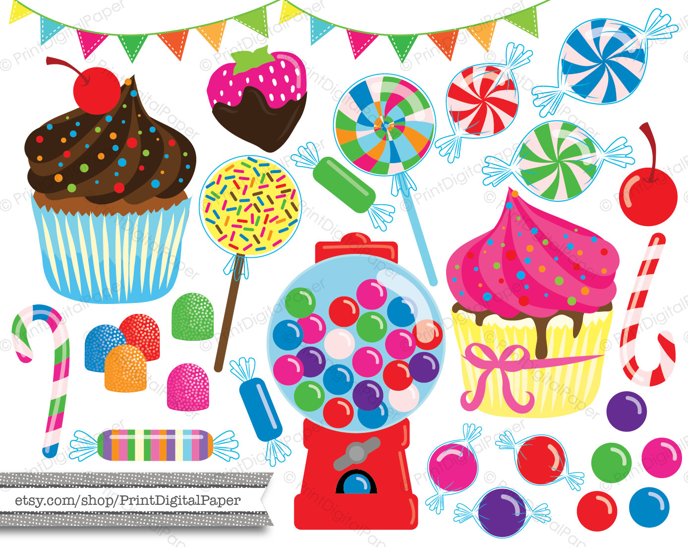 Candy Cane clipart lollipops Strawberry Candy Use Clipart colorful