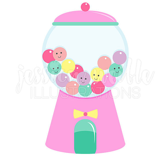 Machine clipart candy Gumball on Cute Digital JWIllustrations