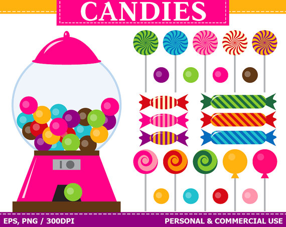 Machine clipart candy Lollipop Art Art Gum Clip