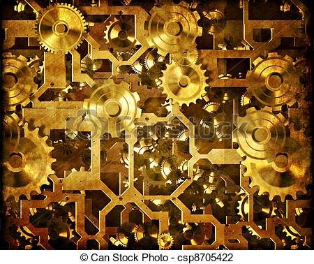 Machine clipart clockwork Clockwork Illustration Art of Stock