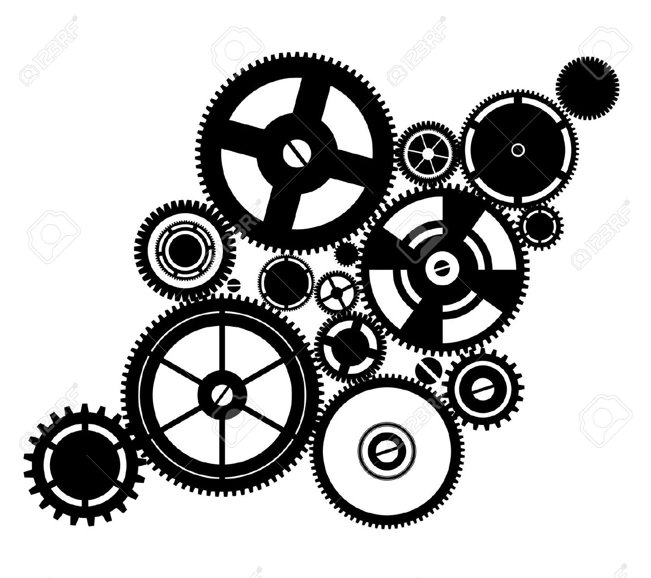 Machine clipart clockwork Vector silhouette 10083505 silhouette 10083505