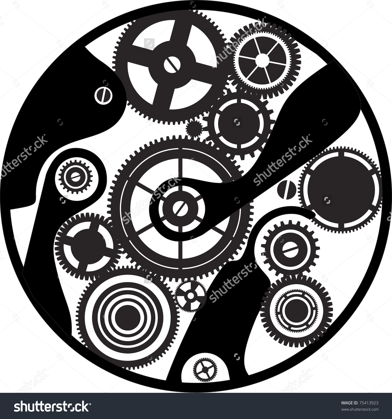 Machine clipart clockwork Cameo Steampunk vector silhouette Explore