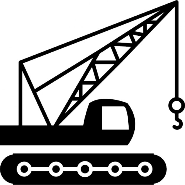Machine clipart construction crane Crane side crane with machine