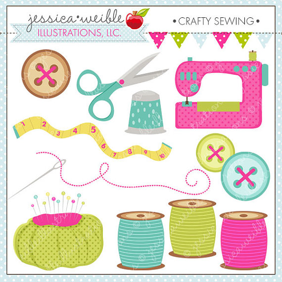 Sewing Machine clipart sewing button #2