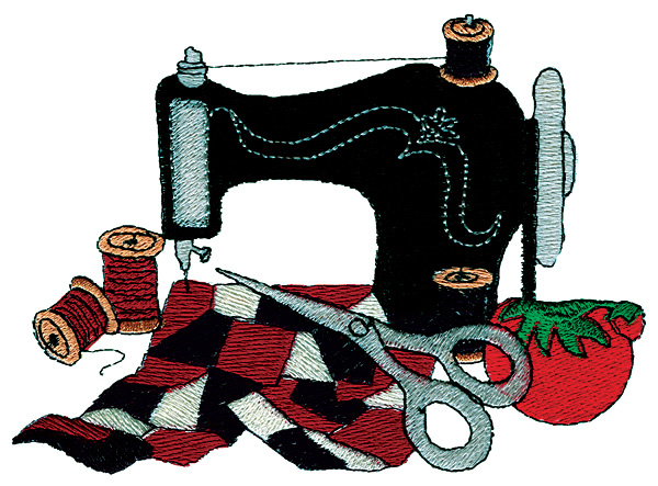 Sewing Machine clipart quilting #1