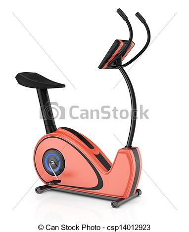 Bicycle clipart stationary bike Bike Illustration white Clip Stock