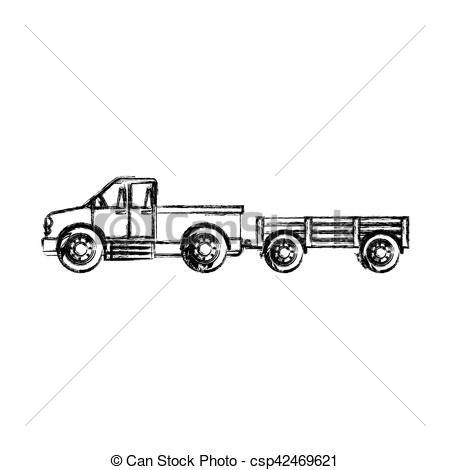 Machine clipart farm truck Truck farm design farm Isolated