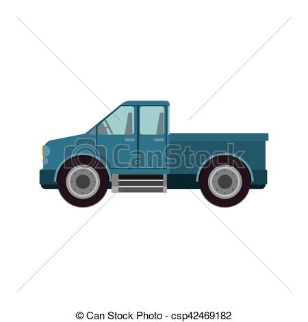 Machine clipart farm truck Vehicle Isolated icon truck design