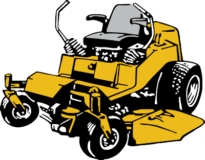 Yellow clipart lawn mower Mowing lawn Riding clipart Lawn