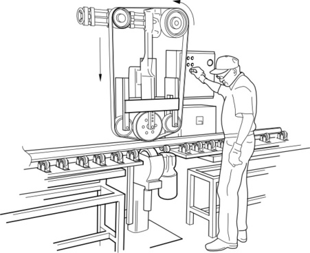 Smog clipart manufacture Free free Manufacture vector) Machine
