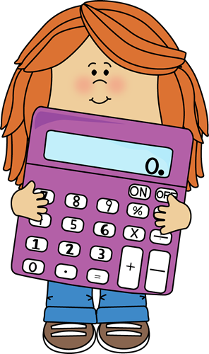 Notebook clipart math subject Calculator Girl cliparts Math Clipart
