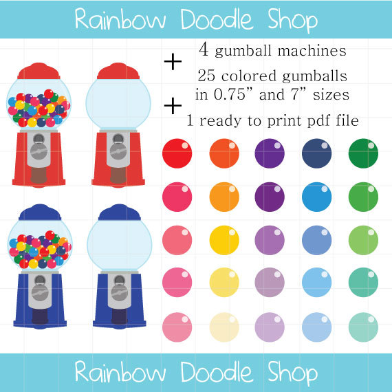 Machine clipart pokland Candy Gumball Empty Clip Etsy
