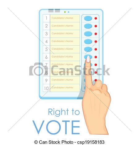 Machine clipart pokland Machine Hand Voting of
