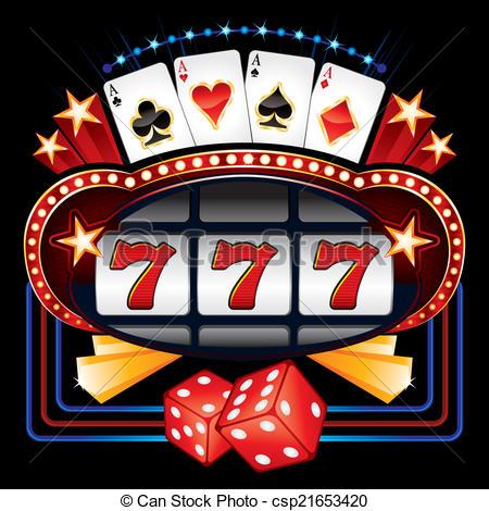 Machine clipart pokland Illustration Casino  machine Vector