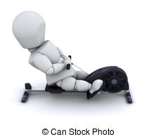 Machine clipart rower Of a rowing machine rowing