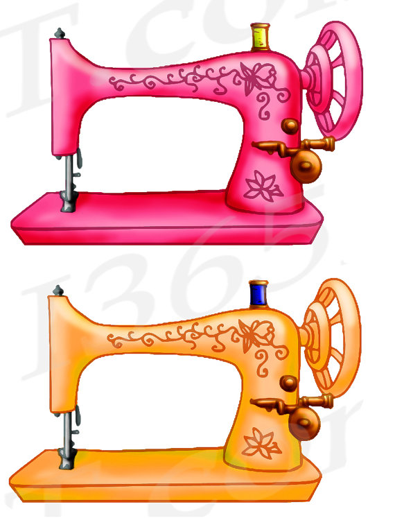 Sewing Machine clipart graphic #1