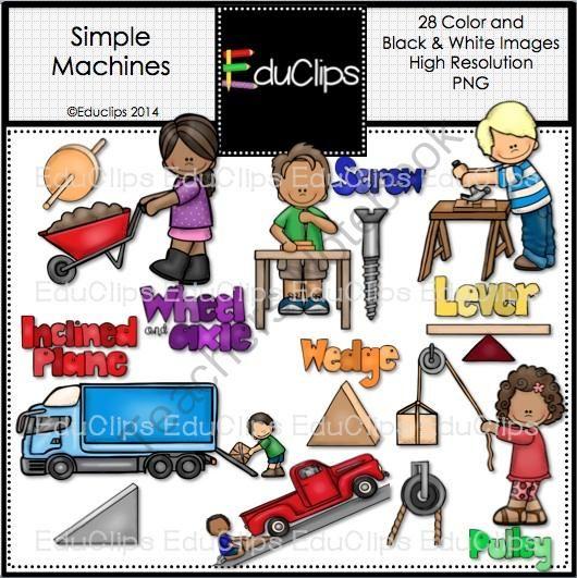 Machine clipart simple machine Machines Bundle Simple pages) on