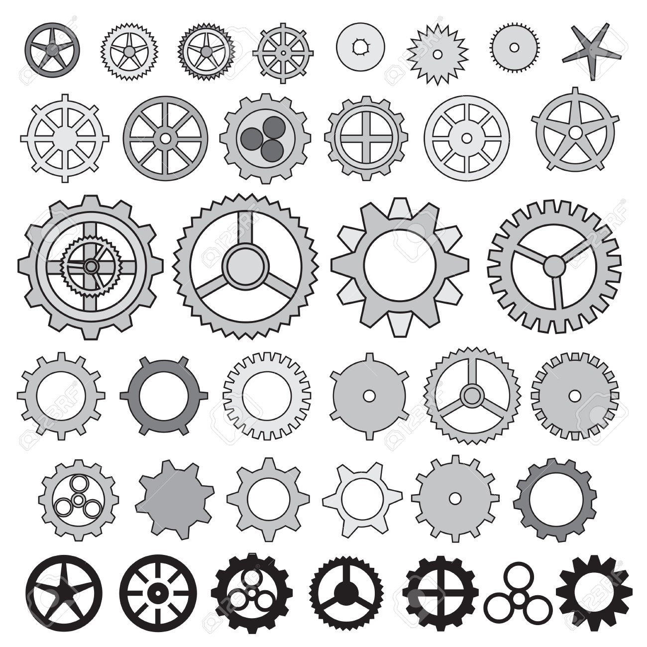 Machine clipart object Gear Vector Collection Vector Cogwheel