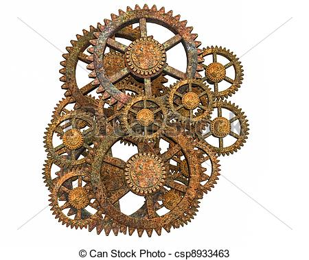 Machine clipart steampunk gear Rusty on Isolated Gears steampunk