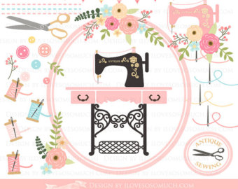 Machine clipart swing machine Vintage Instant Sewing Art Sewing