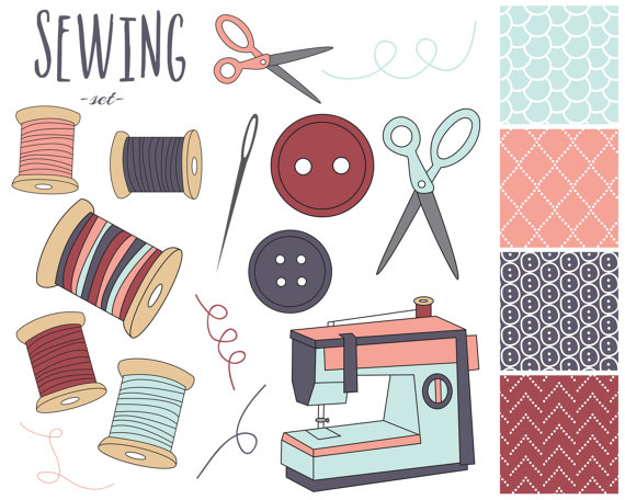 Machine clipart thread Digital Clip Sewing Papers OFF