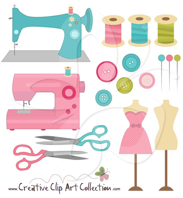 Machine clipart thread Art colourful Collection cute clipart