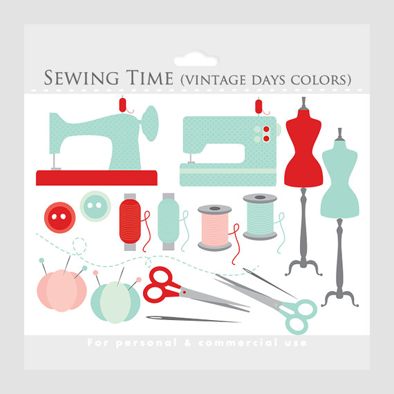 Machine clipart thread Clipart sewing whimsical clipart art