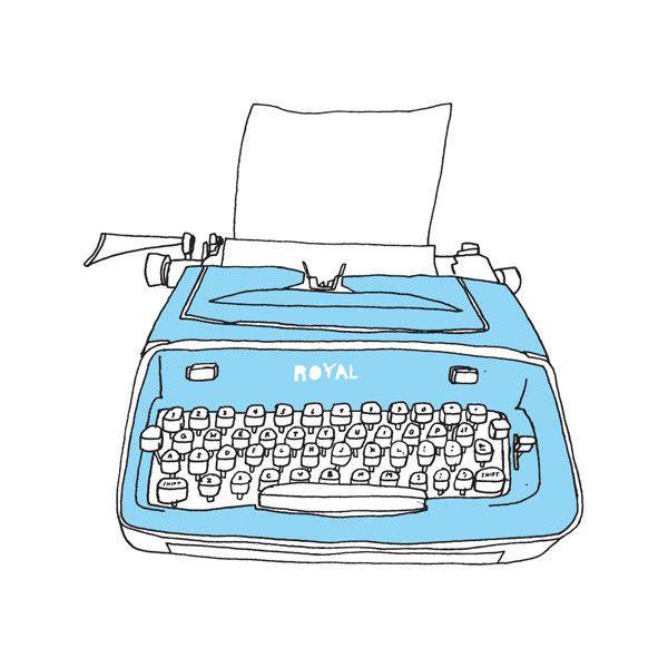 Drawn typewriter clipart By Julia Pinterest Tattly designed