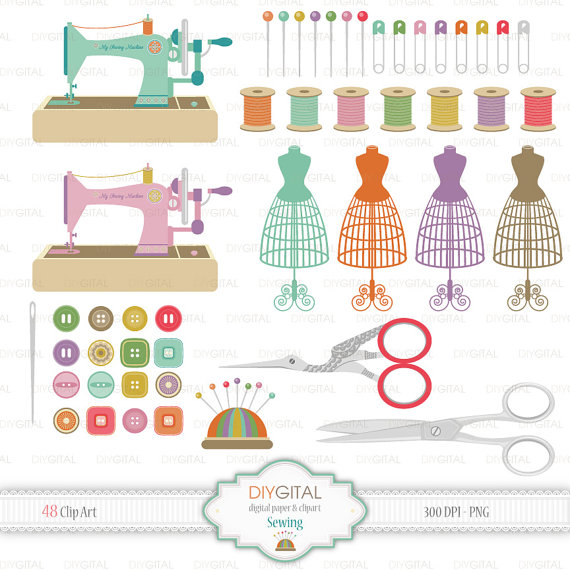 Sewing Machine clipart sewing button #3