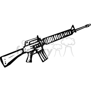 Shotgun clipart m16 And black machine machine black