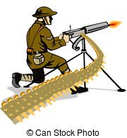 Machine Gun clipart Machine Illustration  gun Aiming