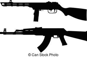 Machine Gun clipart Guns guns Vector of