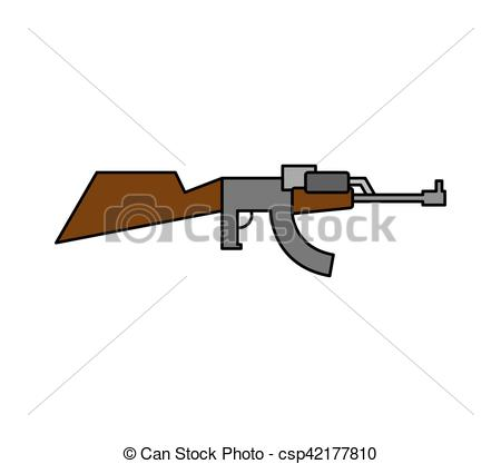 Machine Gun clipart military weapon Csp42177810 Clip on Vector