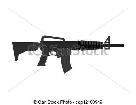 Machine Gun clipart military weapon Vector Rifle background of on