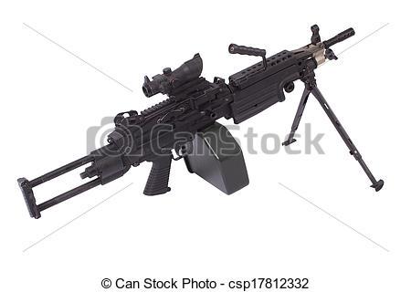 Machine Gun clipart modern On of machine Stock army