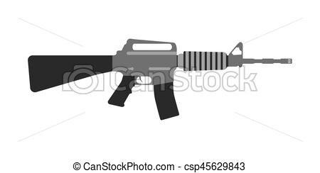 Machine Gun clipart modern Style EPS Weapons Modern Modern
