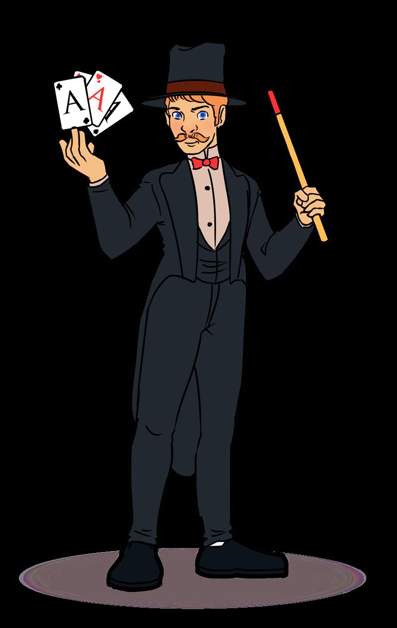 Magician clipart #14