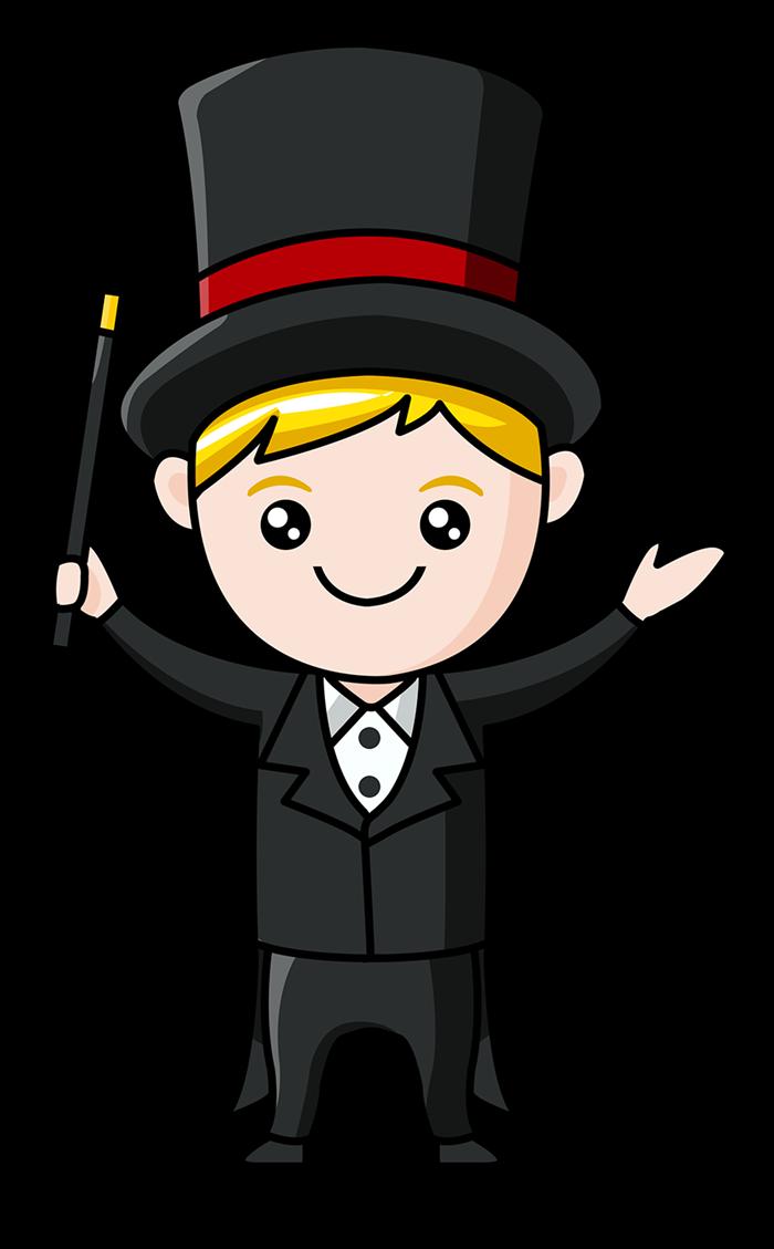 Magician clipart #11