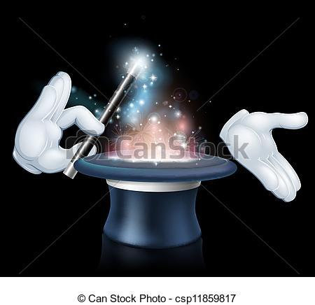 Magician clipart hand Hat trick Art hat Magician