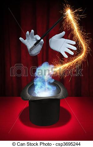 Magician clipart hand Smoke Magic on Drawing of