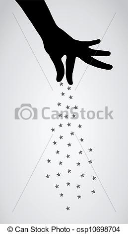 Magician clipart hand Background Vector Magic design csp10698704